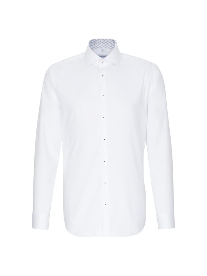 Seidensticker Business Hemd ' Shaped ', weiß (0001)