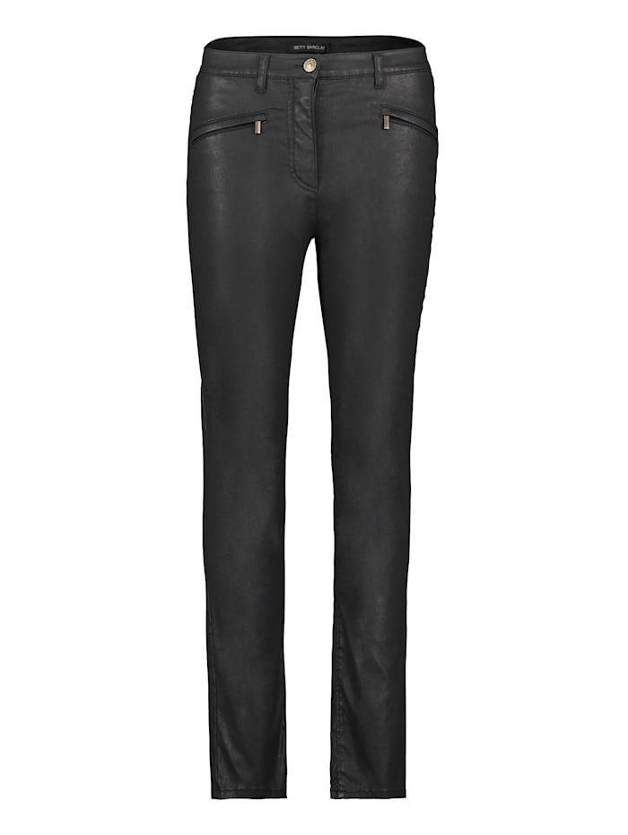 Betty Barclay Basic-Hose mit Reißverschlusstaschen, Schwarz