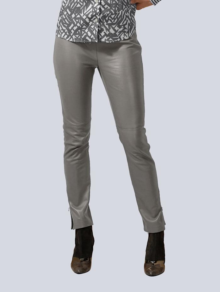 Alba Moda Lederhose aus super softer Qualität, Grau