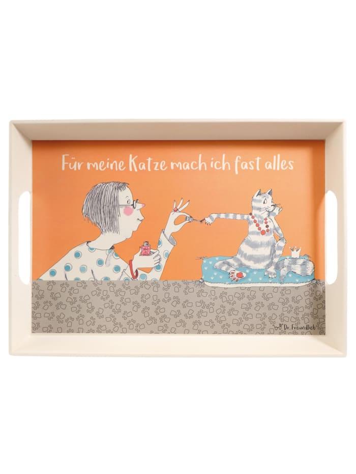 Goebel Goebel Tablett Barbara Freundlieb - Für meine Katze, Für meine Katze
