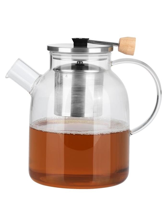 """BEEM Lasinen, sihdillinen teekannu """"Classic Selection"""", 1,5 litraa, väritön"""