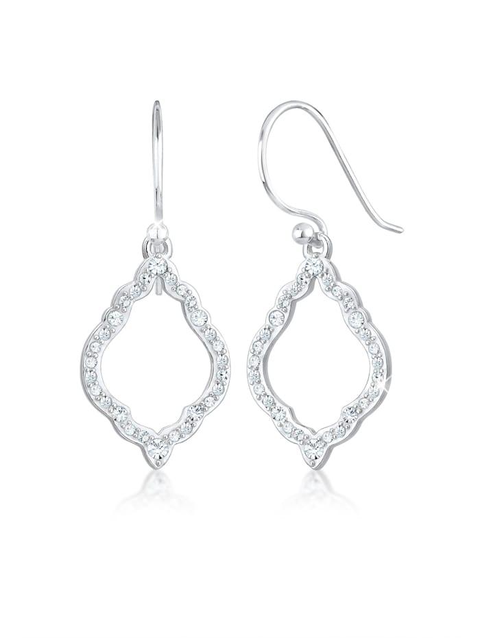 Elli Ohrringe Hänger Ornament Kristalle 925 Silber, Silber