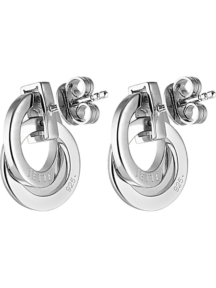 JETTE Damen-Ohrstecker 925er Silber rhodiniert 58 Zirkonia