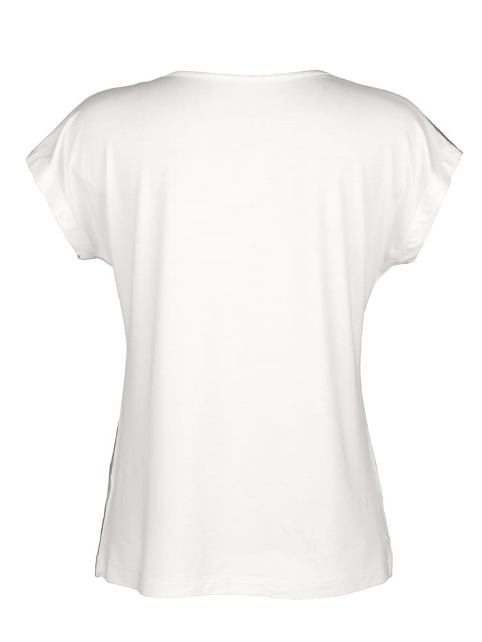 Shirt mit Strasssteinen am Ausschnitt