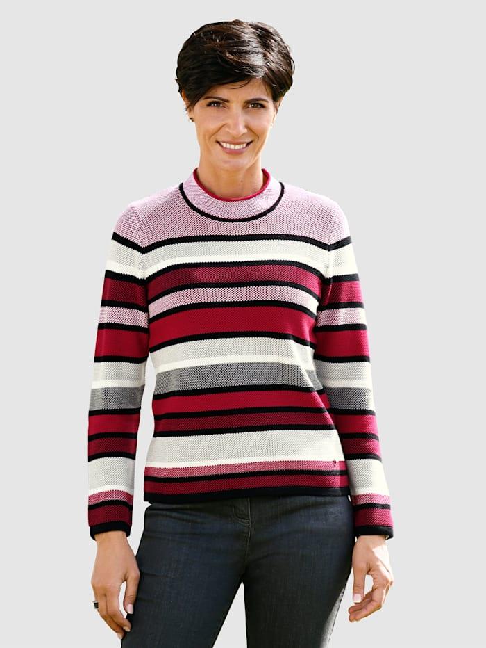 Rabe Pullover von der Marke RABE, Rot/Schwarz/Weiß