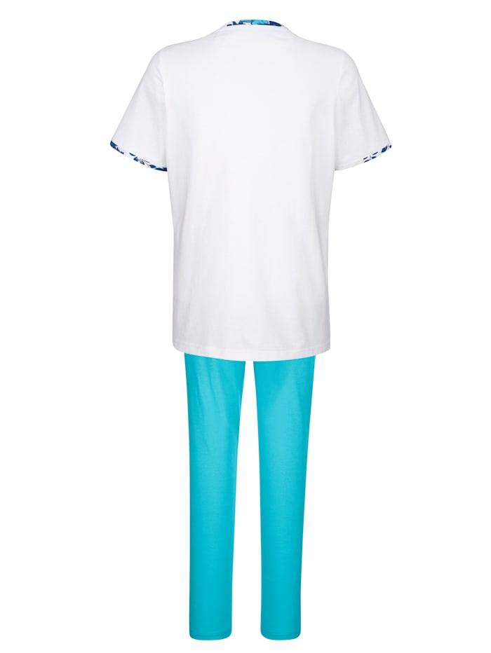 Pyjama's per 2 stuks met plooitjes voor