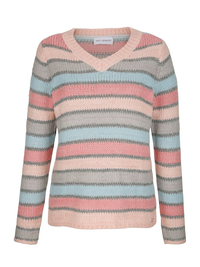 AMY VERMONT Pullover mit Streifenmuster, Multicolor