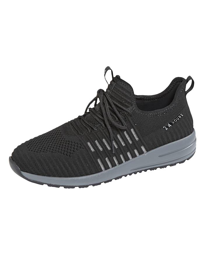 24 Hours Chaussures de sport à semelle intermédiaire 3 couches, Noir