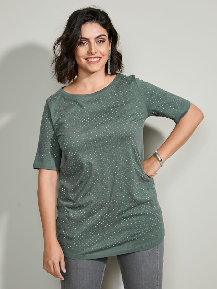 MIAMODA Shirt met vrouwelijke halslijn, Groen