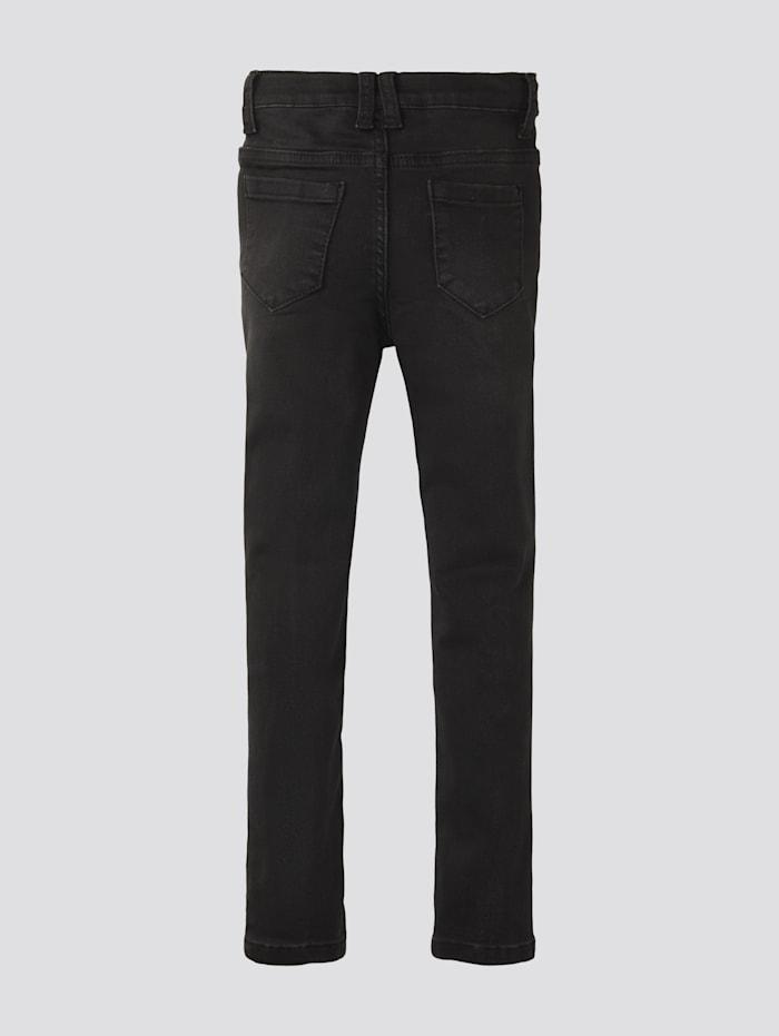 Jeans mit gepunkteter Leiste