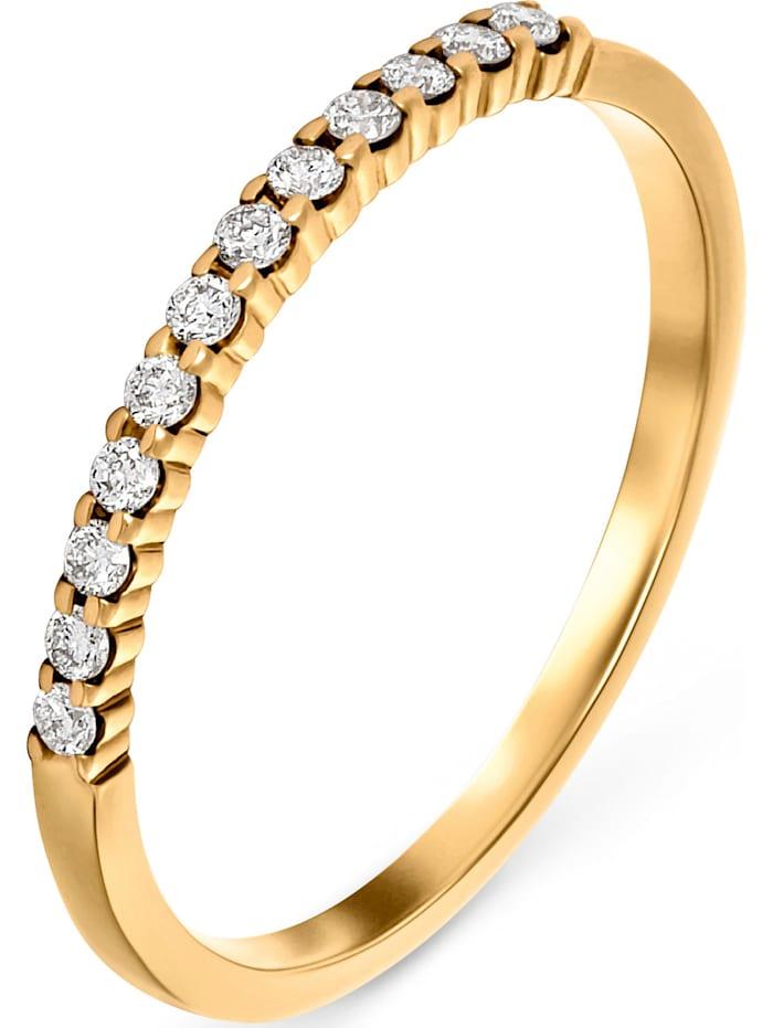 CHRIST Diamonds CHRIST Diamonds Damen-Damenring 12 Diamant, gelbgold