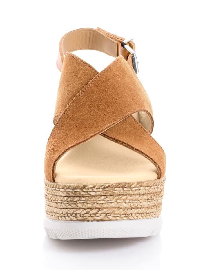 Sandalette aus Rindsvelousleder