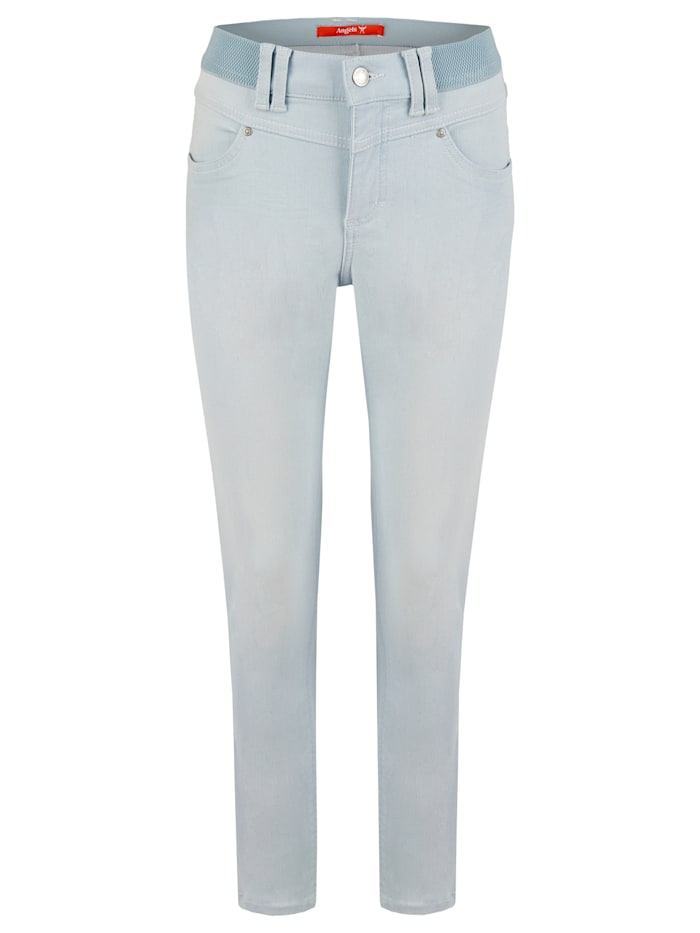Angels Jeans 'One Size Authentic' mit unifarbenem Stoff, bleached blue used