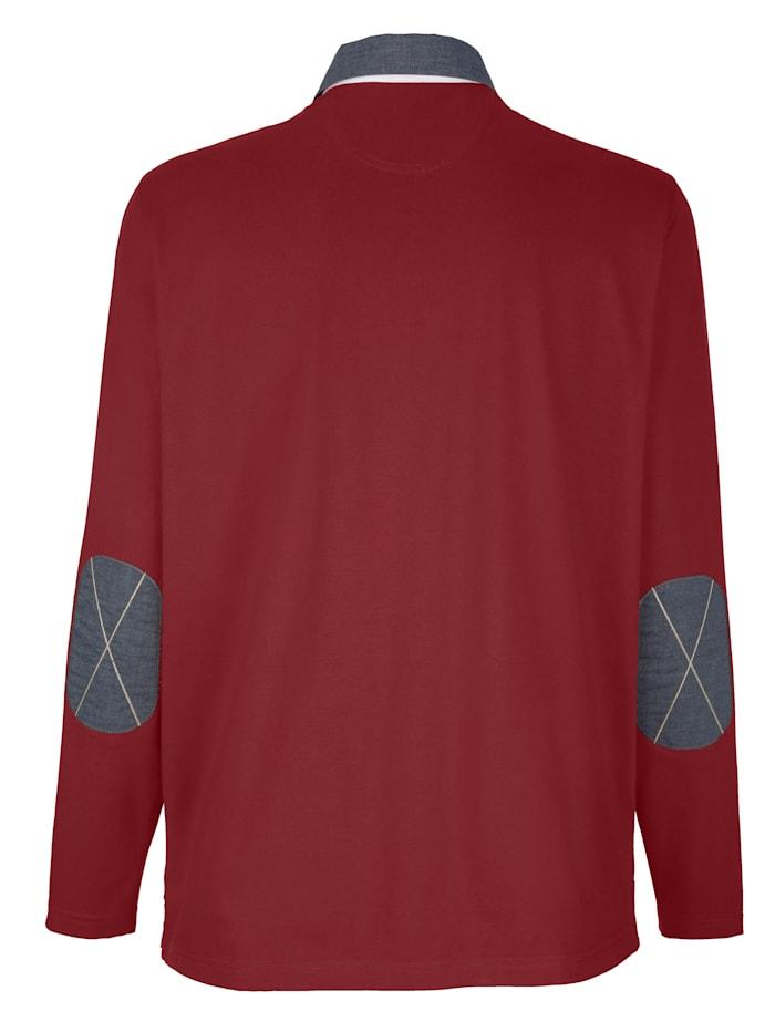 Poloshirt mit Chambray-Details