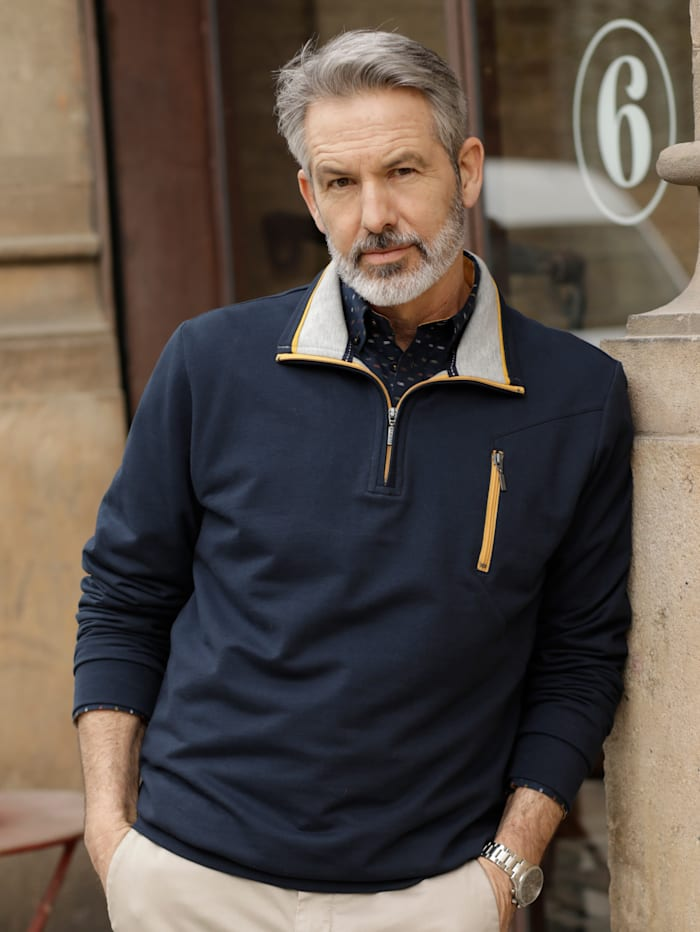 BABISTA Sweatshirt mit weicher Innenseite, Marineblau