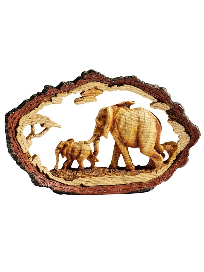 Kunstobjekt Elefanten, braun