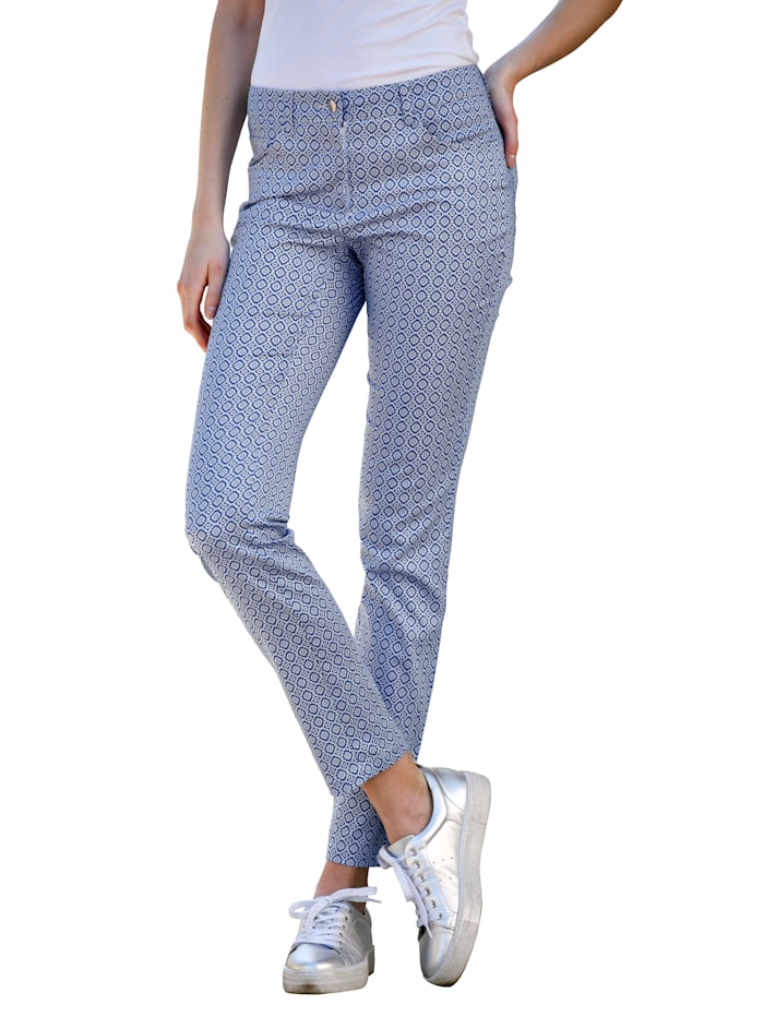 Dress In Jeans med grafisk mønster, Blå