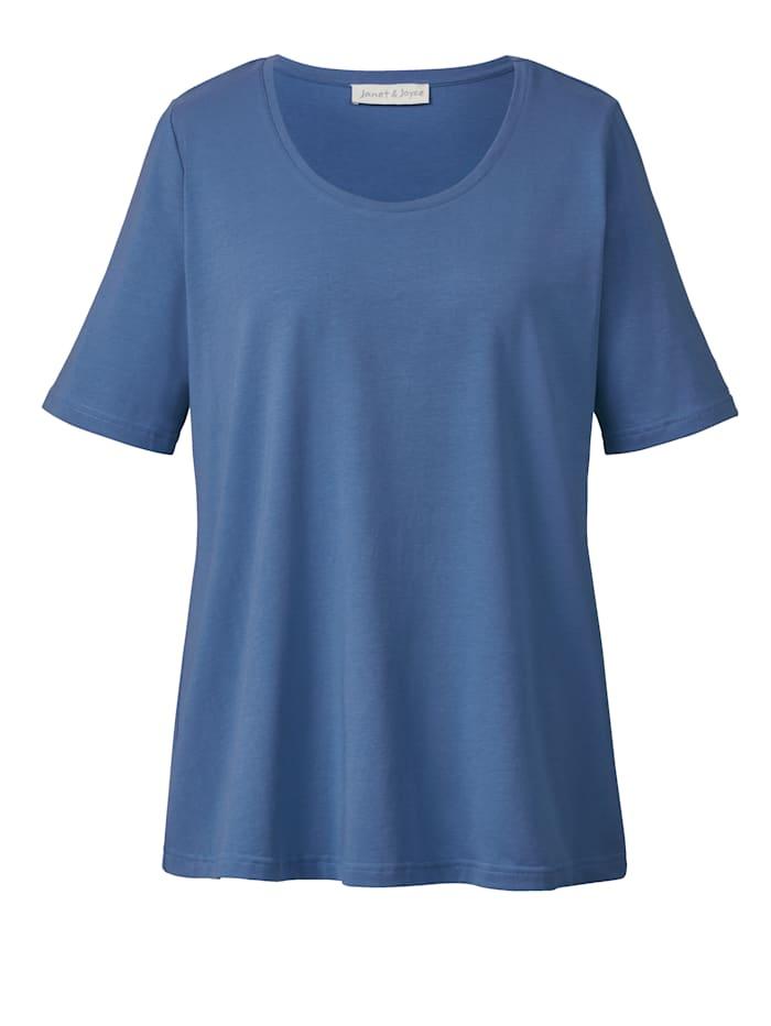 Janet & Joyce Basic shirt, Lichtblauw