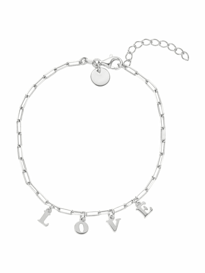 Noelani Armband für Damen, Sterling Silber 925, Love, Silber