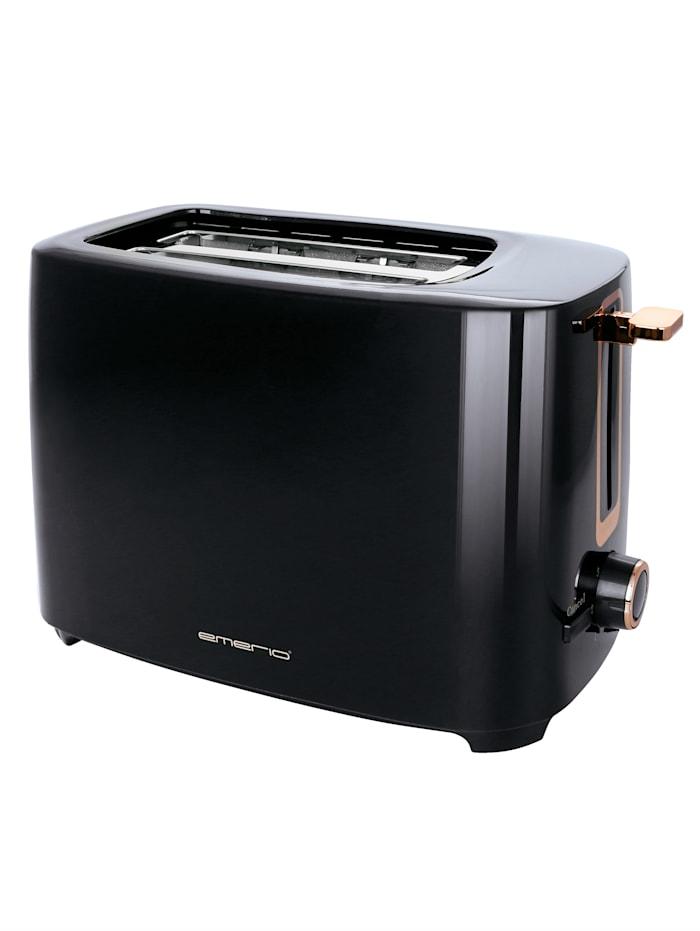 Emerio Toaster 'TO-125131.1', für 2 Brotscheiben, Schwarz/Rosé