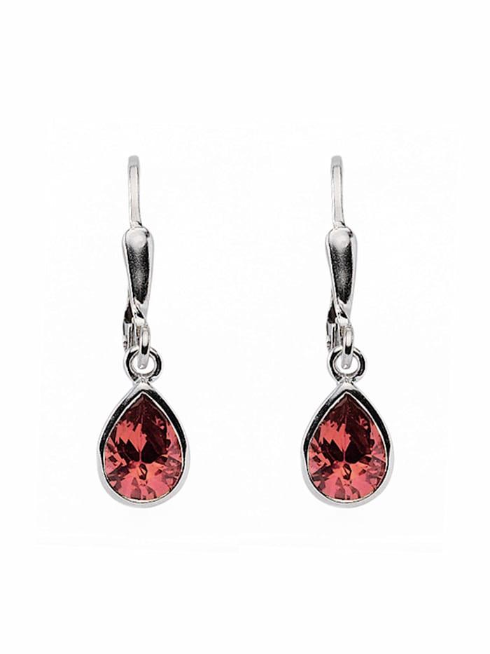1001 Diamonds Damen Silberschmuck 925 Silber Ohrringe / Ohrhänger mit Zirkonia, rot