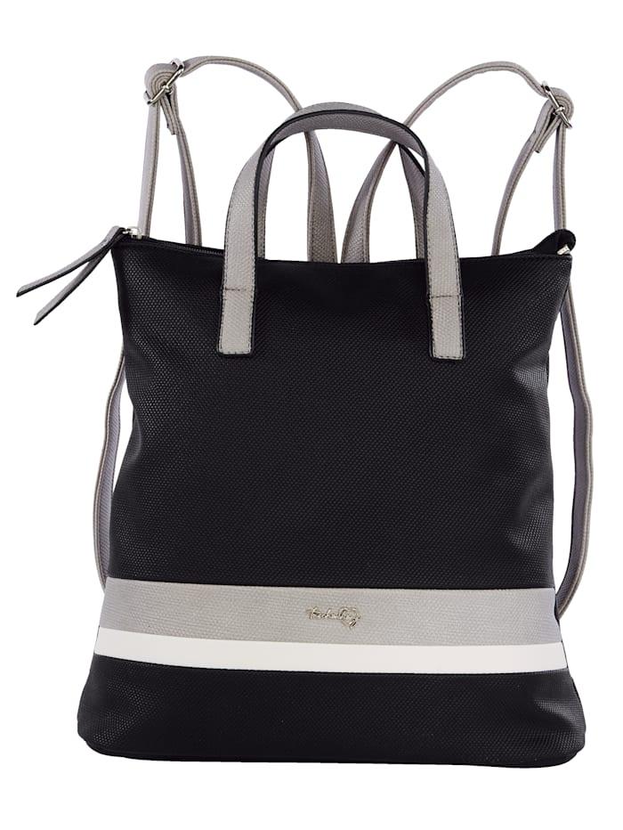 Taschenherz Rucksack in harmonischer Farbgebung, schwarz/grau