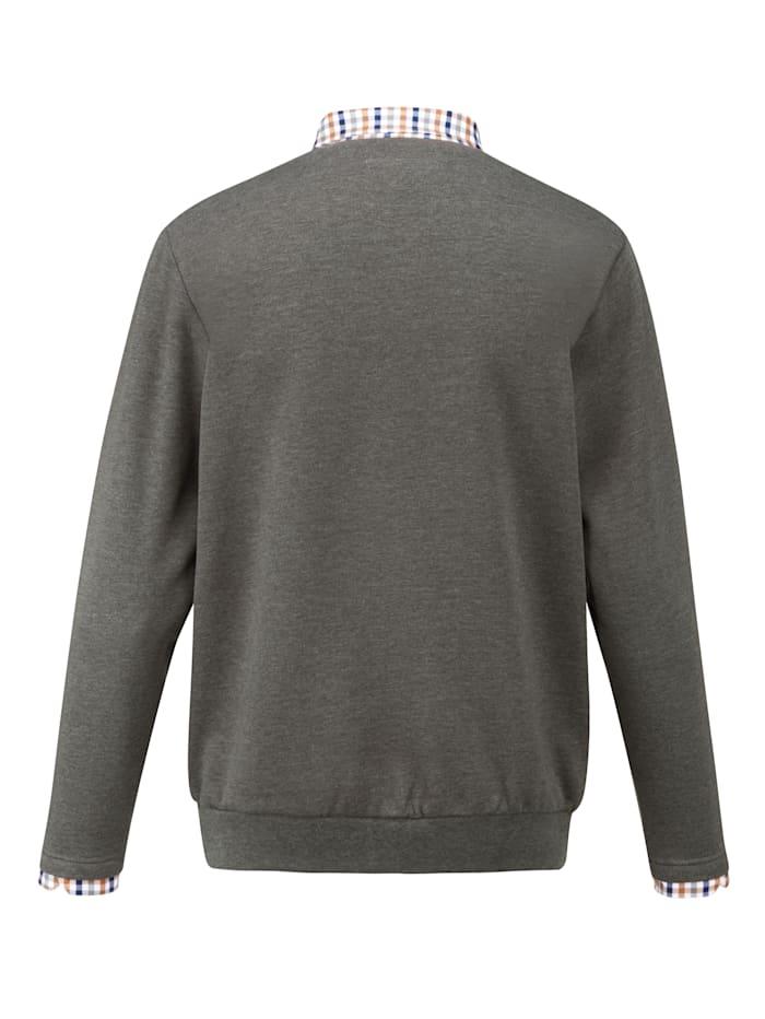Sweatshirt met zacht geruwde binnenkant