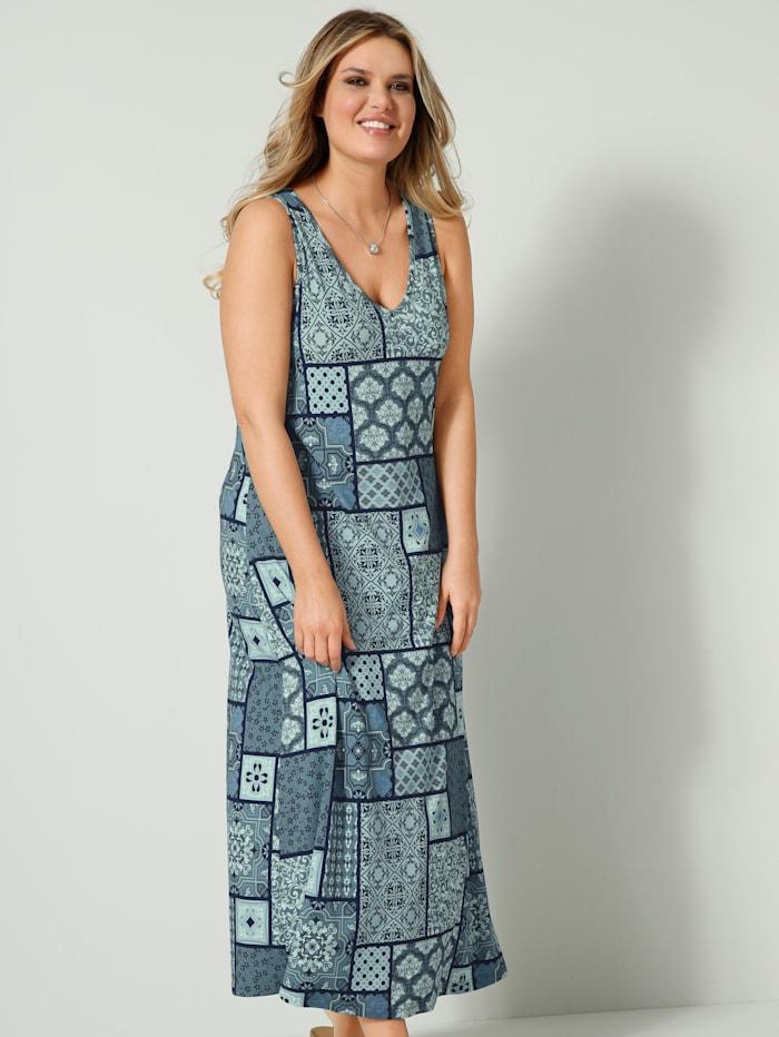 Janet & Joyce Maxi šaty s prodlužujícím výstřihem do V, Šalvějová zelená/Mátová