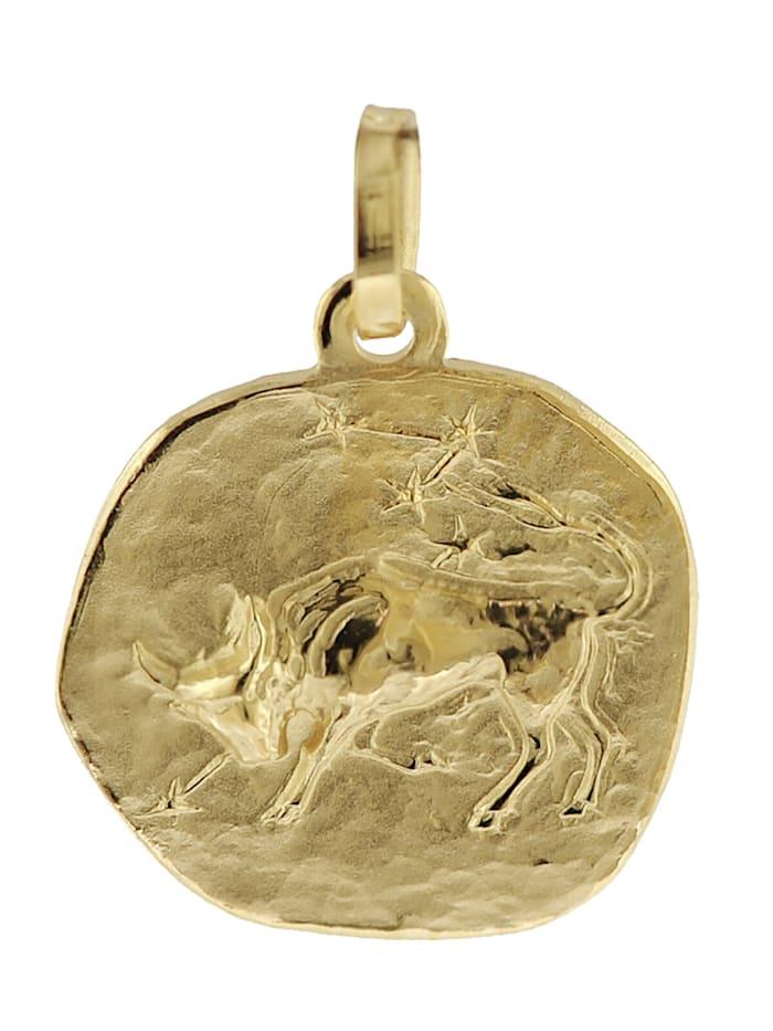 trendor Sternzeichen-Anhänger Stier 585 Gold 16 mm, Goldfarben