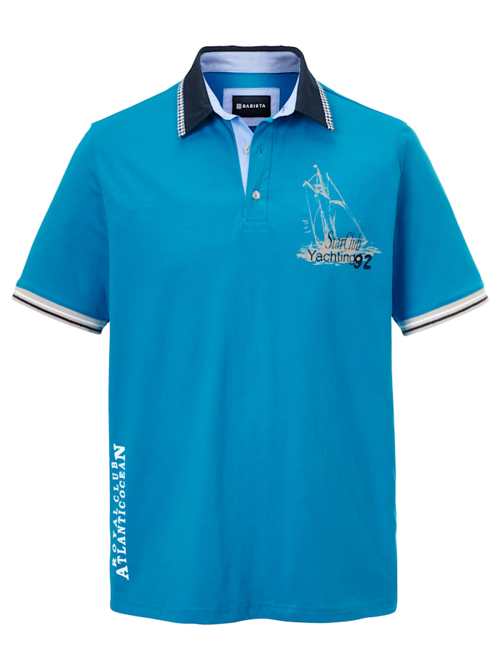 BABISTA Poloshirt in maritieme stijl, Royal blue