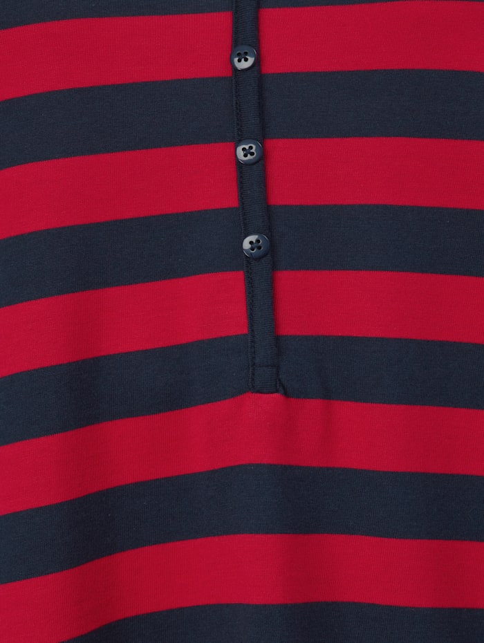 Shirt mit Dekoknöpfen am Ausschnitt