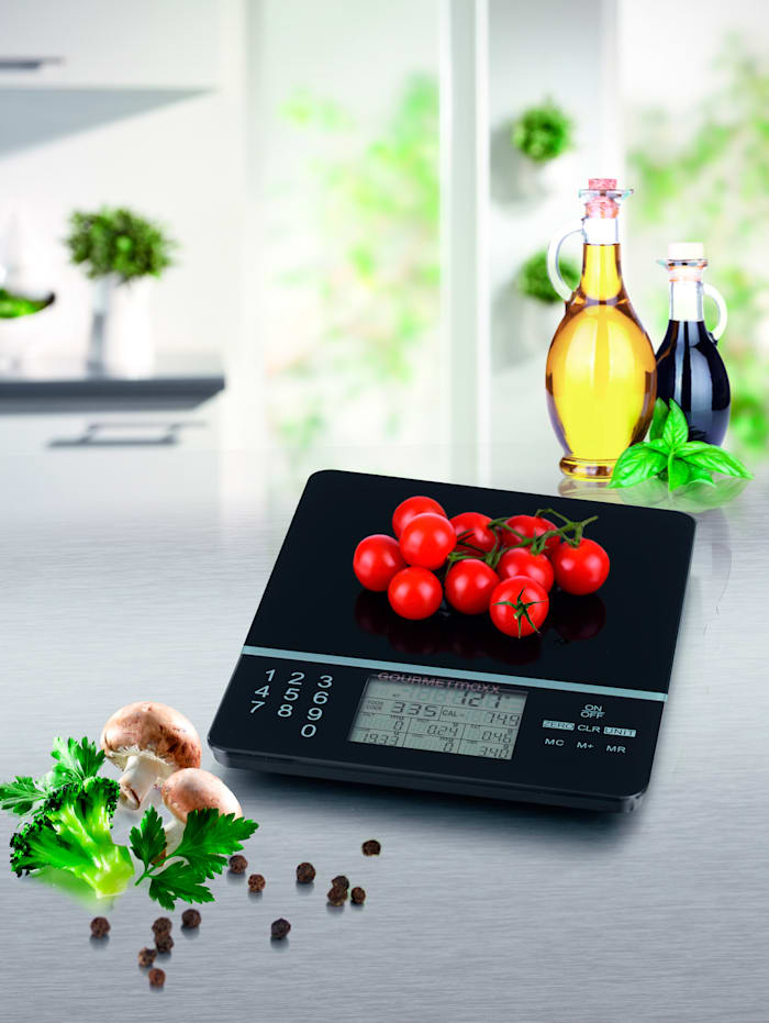 GOURMETmaxx Digitale keukenweegschaal Foot Control, zwart