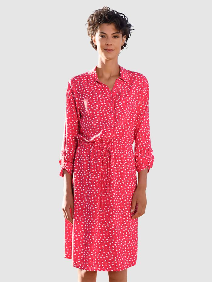 Dress In Kleid mit Herzchendruck, Rot