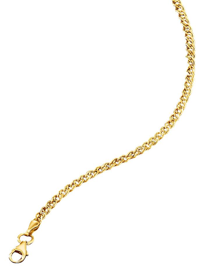 Double chaîne chenille, Coloris or jaune