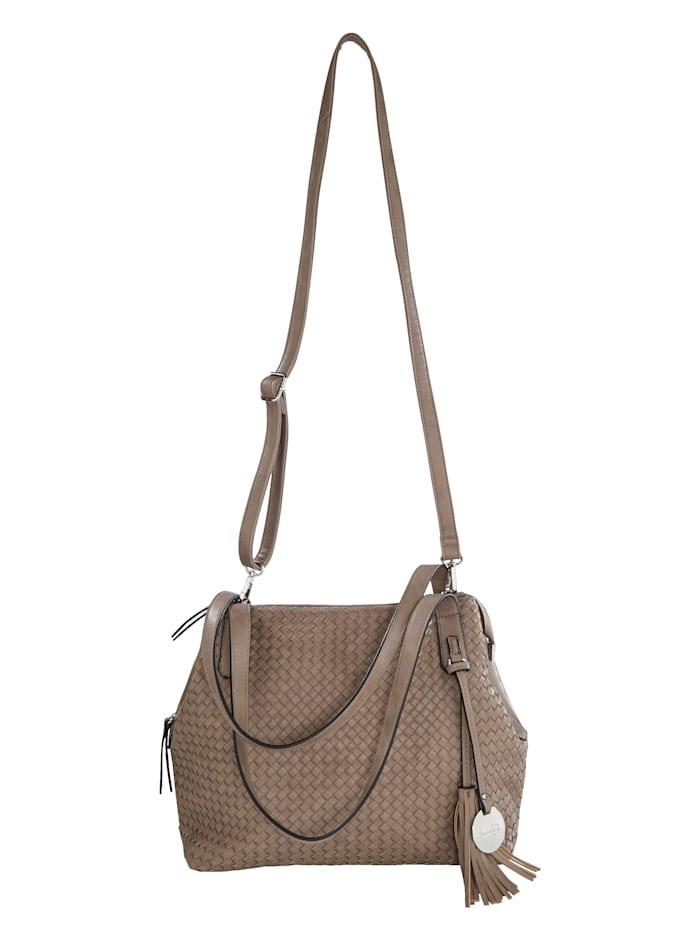 Taschenherz Väska med flätad framsida, Mullvad
