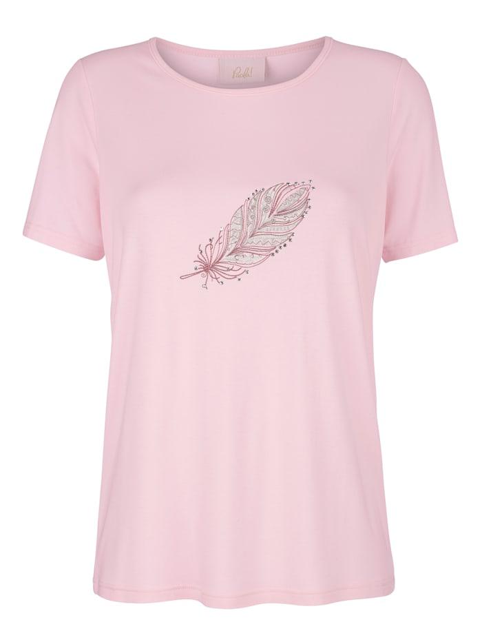 T-shirt avec broderie plume