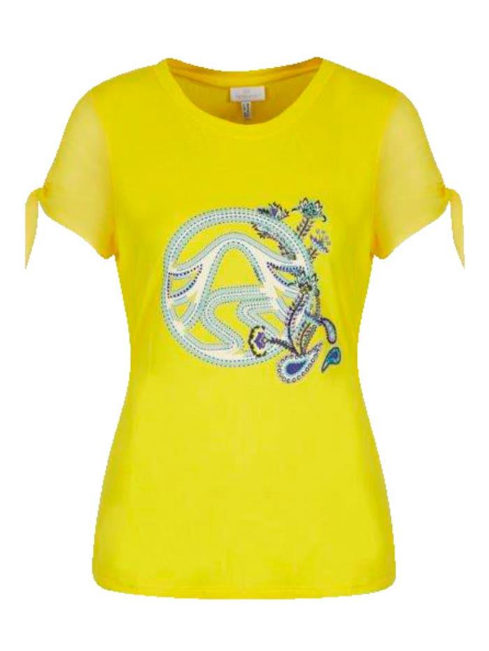 SPORTALM T-Shirt mit Perlen und Stass, Gelb