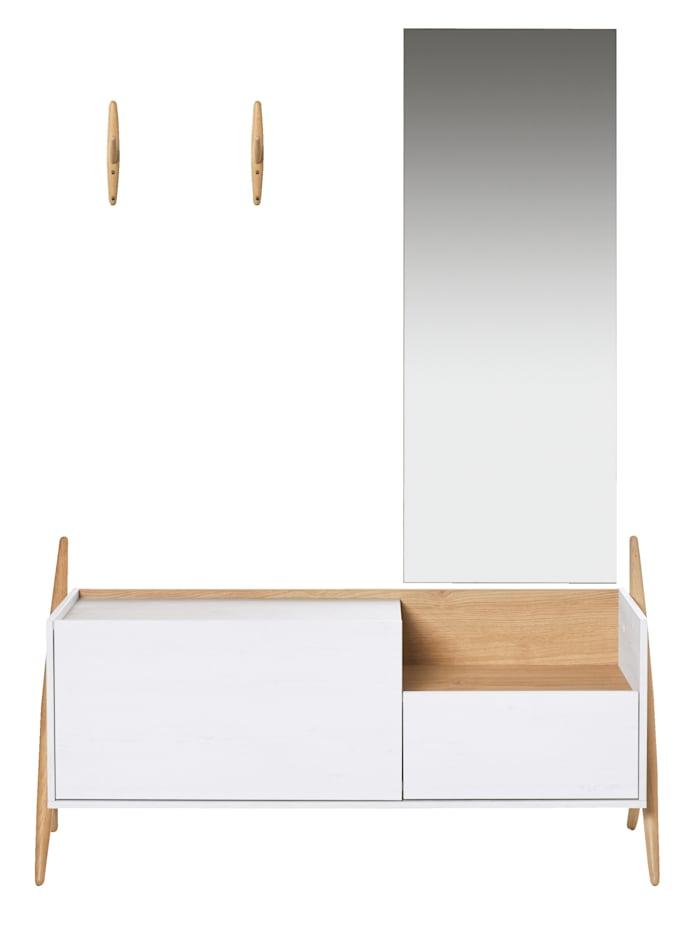 Garderoben-Set inkl. Haken und Spiegel