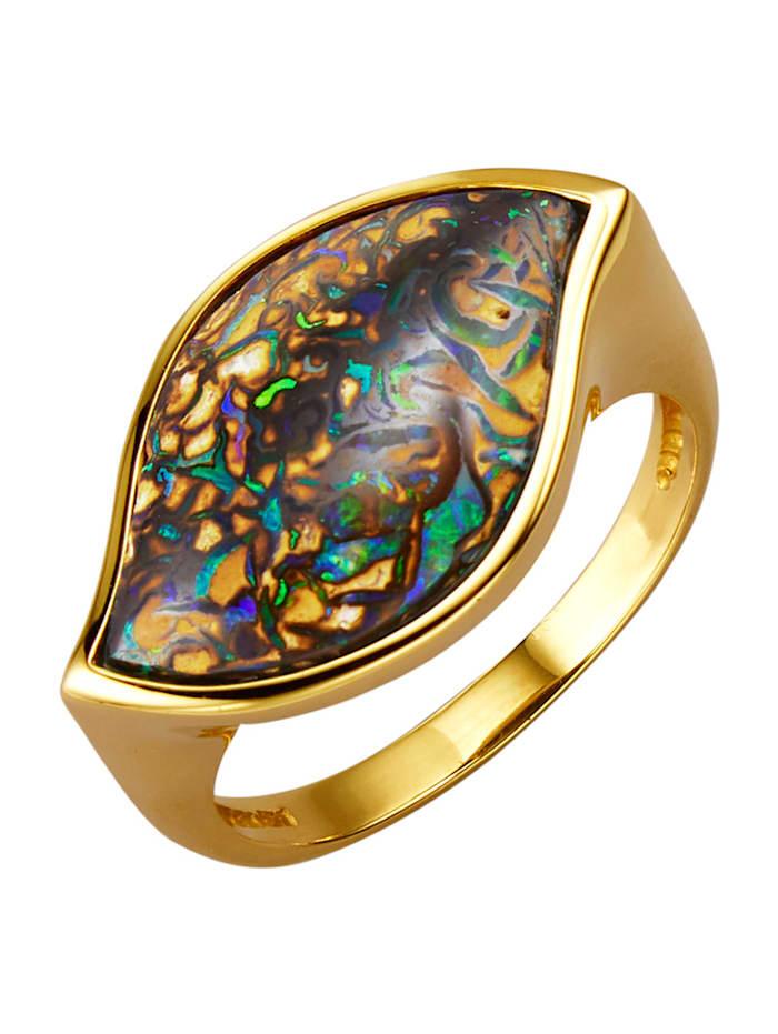 Diemer Farbstein Damenring mit Opal, Braun