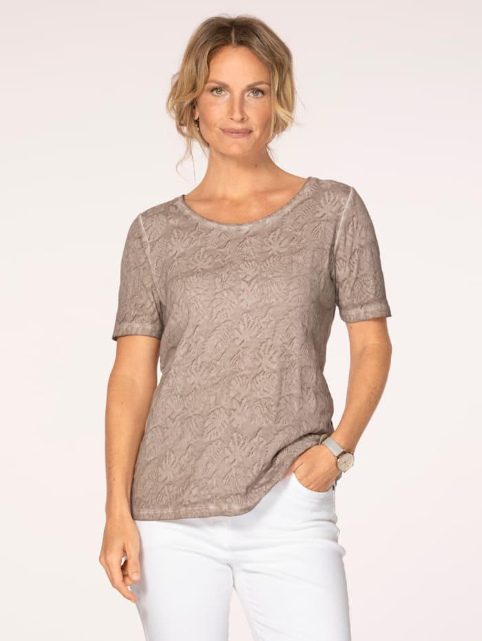 MONA Shirt aus reiner Baumwolle, Taupe