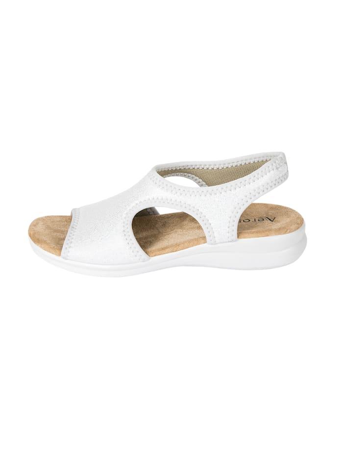 AEROSOFT Sandaaltje, Zilverkleur