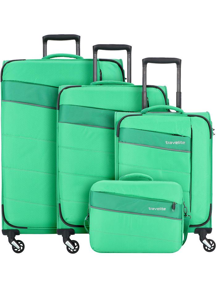 Travelite Kite 4-Rollen Kofferset 4tlg. 4-teilig, grasgrün