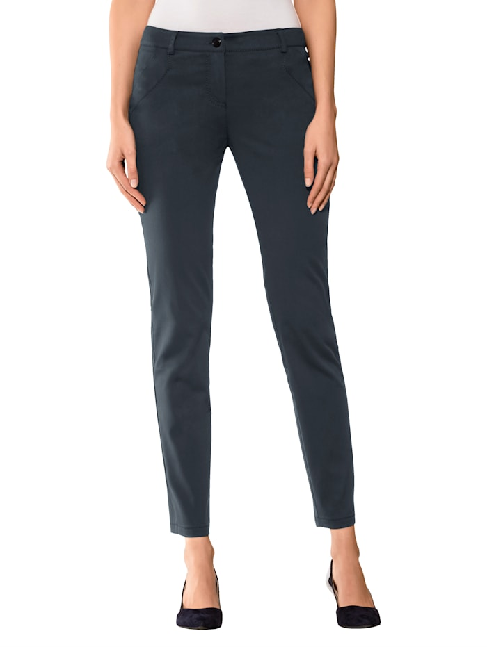 Alba Moda Broek in skinny model, Marine