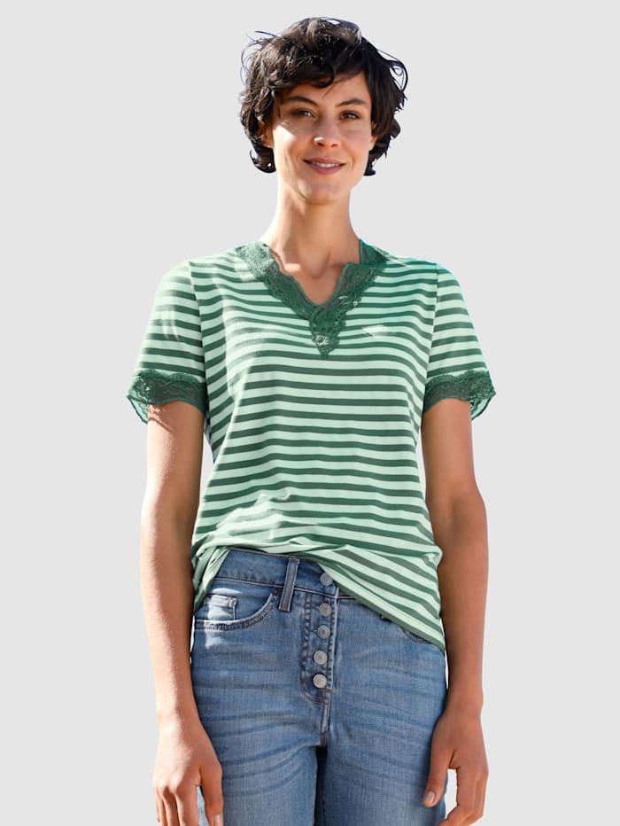 Dress In Shirt van comfortabel materiaal, Salie
