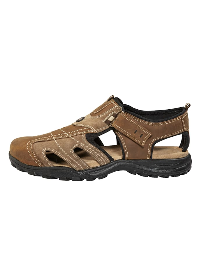 Sandales de trekking en cuir souple