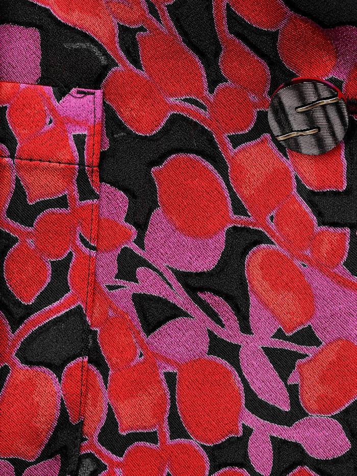 Blazer mit floralem Ausbrenner