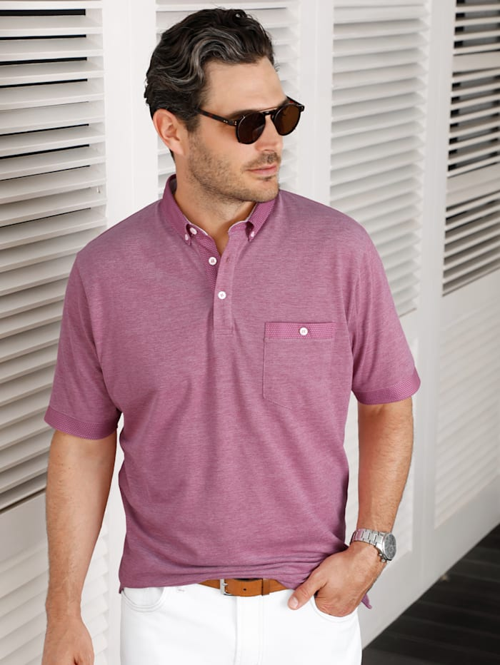 BABISTA Poloshirt in bicolor look, Roze