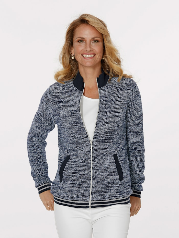 MONA Jacket made from a soft knit, Blue