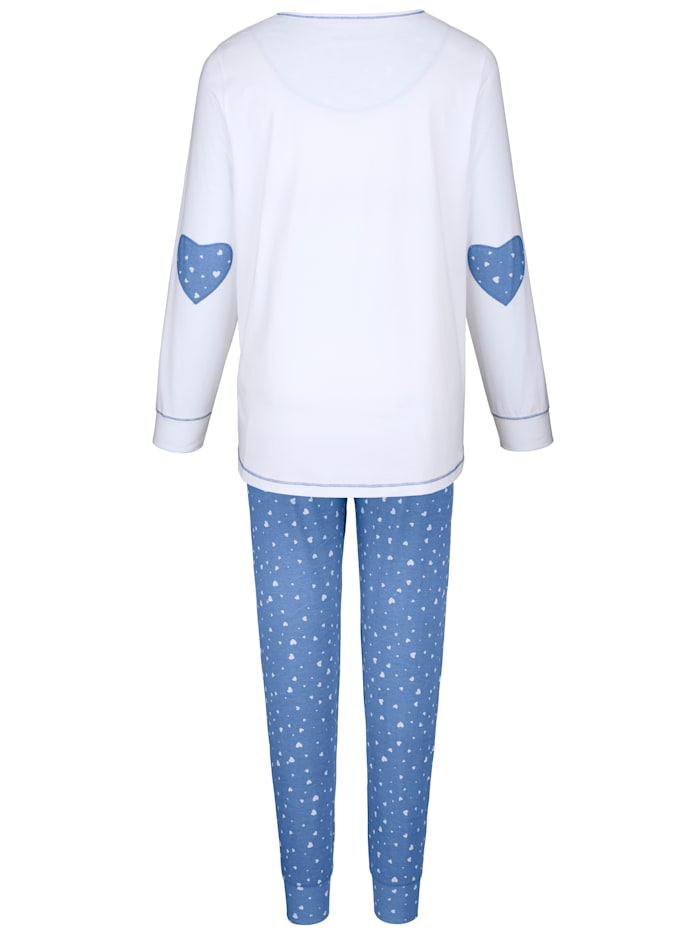 Pyjama met hartvormige patches