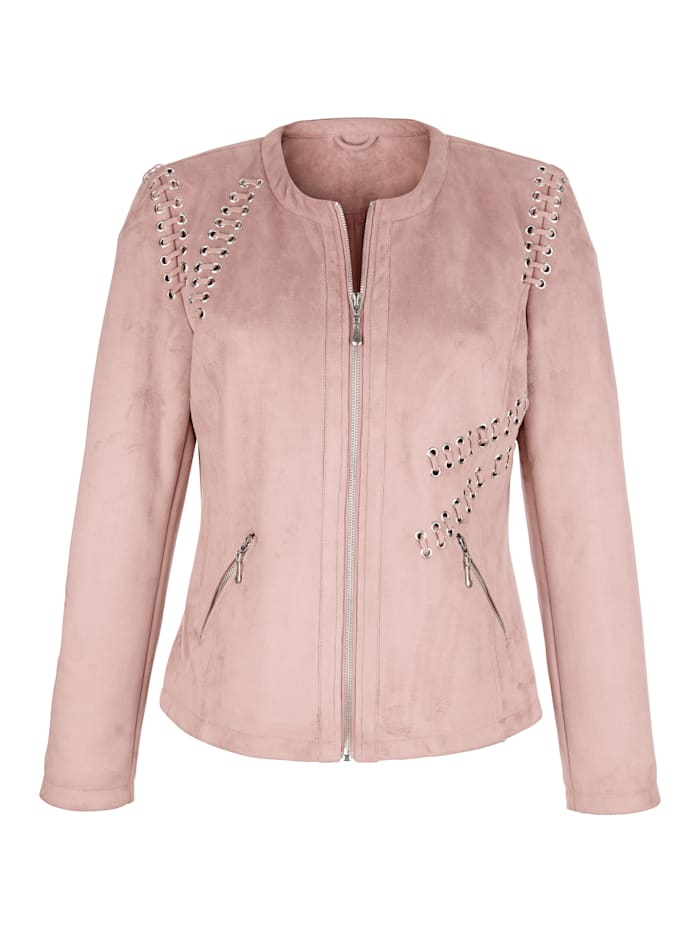 Biker jacket made from soft faux suede